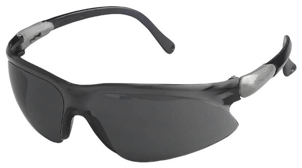 KleenGuard Visio Safety Glasses with Silver Temple and Smoke Lens 14472