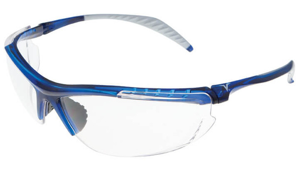 Encon Veratti 307 Safety Glasses with Blue Frame and Clear Lens
