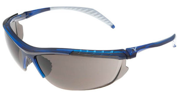 Encon Veratti 307 Safety Glasses with Blue Frame and Gray Lens