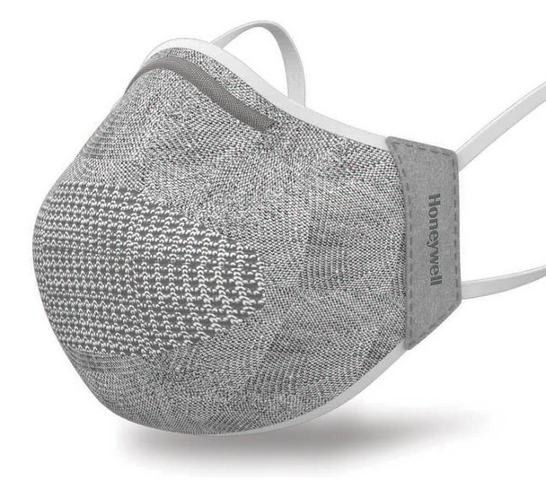 Honeywell Dual-Layer Knit Face Cover & Filters, Light Gray