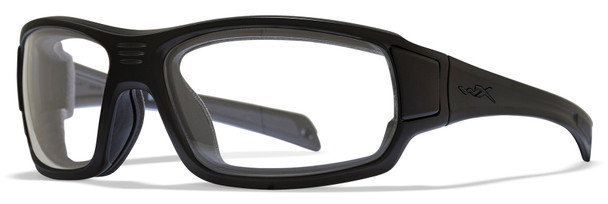 Wiley X Breach Safety Glasses with Matte Black Frame and Clear Lens