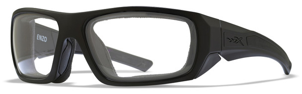 Wiley X Enzo Safety Glasses with Matte Black Frame and Clear Lens