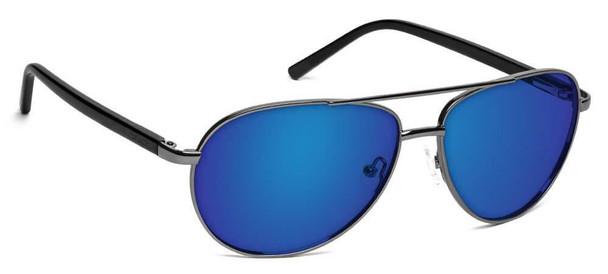 ONOS New Castle Polarized Bifocal Sunglasses with Blue Mirror Lens