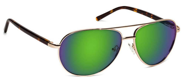 ONOS Superior Polarized Bifocal Sunglasses with Amber Green Mirror Lens