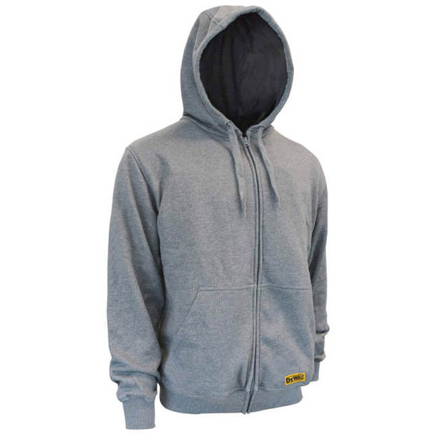 DEWALT DCHJ080B Unisex Heated French Terry Cotton Hoodie Heather Gray Without Battery