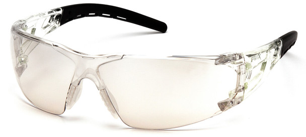 Pyramex Fyxate Safety Glasses with Clear/Black Frame and Indoor-Outdoor Lens SB10280S