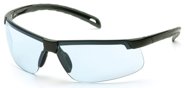 Pyramex Ever-Lite Safety Glasses with Black Frame and Infinity Blue H2MAX Anti-Fog Lens SB8660DTM