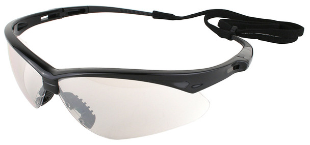 KleenGuard Nemesis Safety Glasses with Black Frame and Indoor/Outdoor Lens