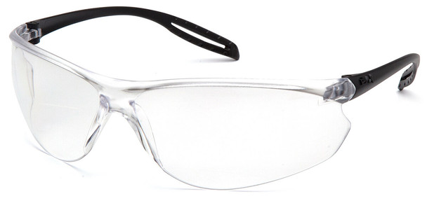 Pyramex Neshoba Safety Glasses with Black Temple and Clear Anti-Fog Lens S9710ST