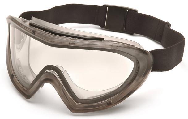 Pyramex Capstone Safety Goggles Gray Frame Clear H2MAX Anti-Fog Lens GG504TM