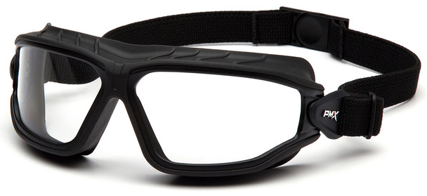 Pyramex Torser Safety Goggles with Black Frame and Clear H2MAX Anti-Fog Lens GB10010TM