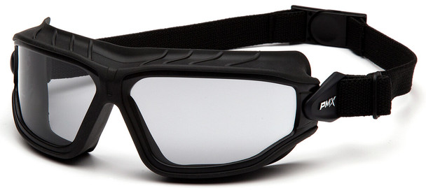 Pyramex Torser Safety Goggles with Black Frame and Light Gray H2MAX Anti-Fog Lens GB10025TM