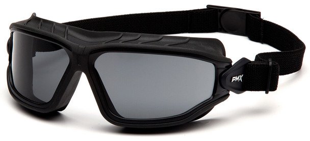 Pyramex Torser Safety Goggles with Black Frame and Gray H2MAX Anti-Fog Lens GB10020TM