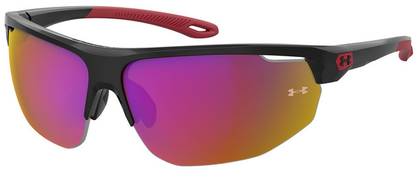 Under Armour Clutch Sunglasses with Black Frame and Grey Infrared Mirror Lens