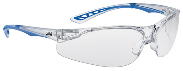 Bolle Iluka Safety Glasses with Trans/Blue Temples and Clear Anti-Fog Lens