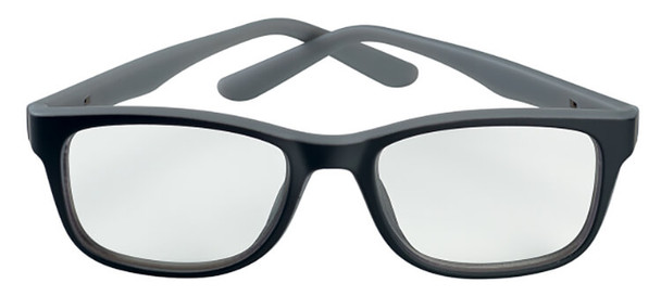 Bolle Kick Office Safety Glasses with Side Shields and Clear Blue-Blocker Lens PXFOFKI109