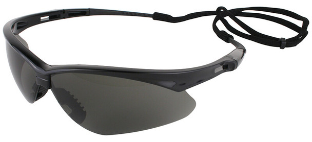 KleenGuard Nemesis Safety Glasses with Black Frame and Anti-Fog Smoke Lens 22475