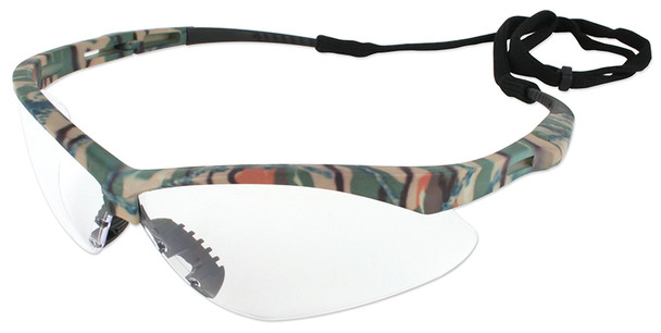 KleenGuard Nemesis Safety Glasses with Camo Frame and Clear Anti-Fog Lens