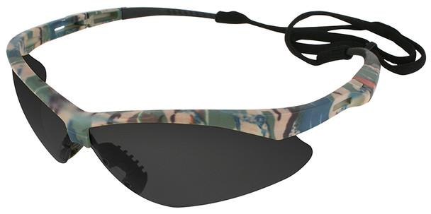 KleenGuard Nemesis Safety Glasses with Camo Frame and Anti-Fog Smoke Lens