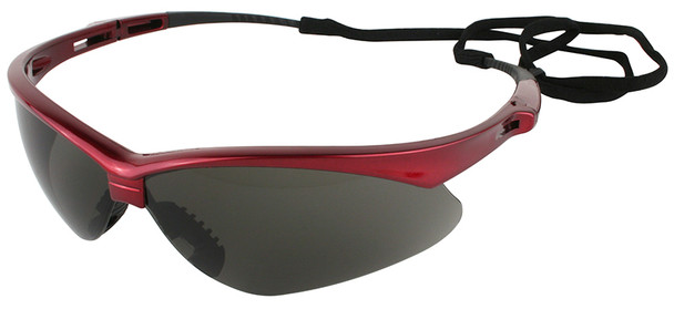 KleenGuard Nemesis Inferno Safety Glasses with Red Frame and Smoke Lens