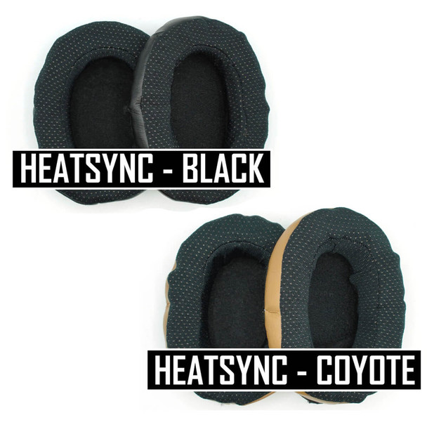 Noisefighters Heatsync Sweat-Wicking Ear Pad Covers - Black & Coyote