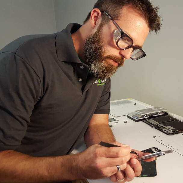 Bouton Traditional Safety Glasses with Translucent Smoke Frame and Wire Mesh Sideshields (shown with clear lens)