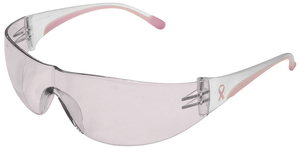 Bouton Eva Women's Safety Glasses with Pink Temple Trim and Pink #1 Lens