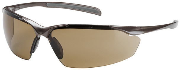 Bouton Commander Safety Glasses with Bronze Frame and Brown Anti-Fog Lens
