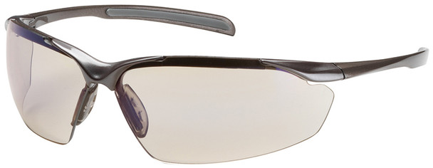 Bouton Commander Safety Glasses with Bronze Frame and Indoor/Outdoor Blue Anti-Fog Lens