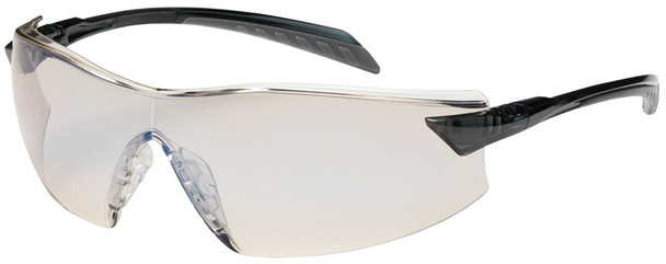Bouton Radar Safety Glasses with Gray Temple and Indoor/Outdoor Blue Anti-Fog Lens