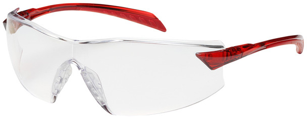 Bouton Radar Safety Glasses with Red Temple and Clear Anti-Fog Lens 250-45-1020