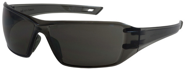 Bouton Captain Safety Glasses with Gray Temple and Gray Anti-Fog Lens