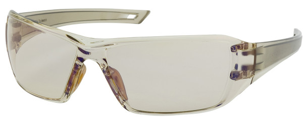 Bouton Captain Safety Glasses with Brown Temple and Indoor/Outdoor Blue Anti-Fog Lens 250-46-0226