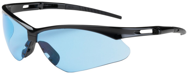 Bouton Anser Safety Glasses with Black Frame and Light Blue Lens 250-AN-10113