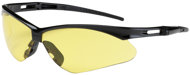 Bouton Anser Safety Glasses with Black Frame and Amber Lens 250-AN-10120