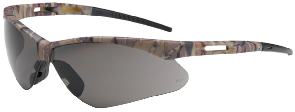 Bouton Anser Safety Glasses with Camouflage Frame and Gray Lens