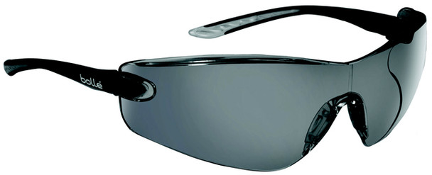Bolle Cobra Safety Glasses with Black Temples and Smoke Anti-Scratch and Anti-Fog Lens