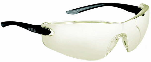 Bolle Cobra Safety Glasses with Black Temples and HD Hydrophobic Lens 40040