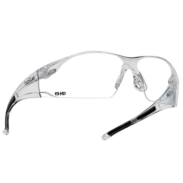 Bolle Rush Safety Glasses with Clear HD Hydrophobic Lens 40113