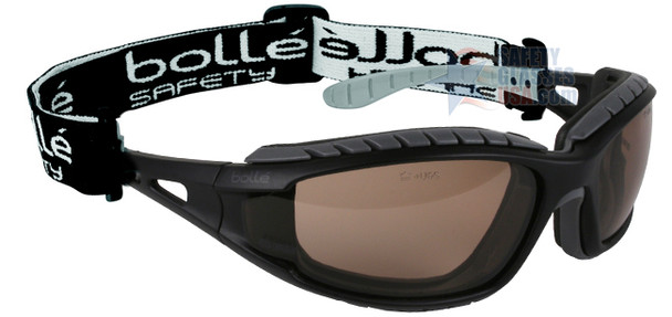 Bolle Tracker Safety Glasses with Black Frame and Twilight Anti-Scratch and Anti-Fog Lenses 40088