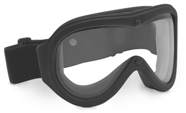 Bolle Chronosoft Safety Goggle with Black Kraton™ Frame and Clear Double Anti-Scratch and Anti-Fog Lens