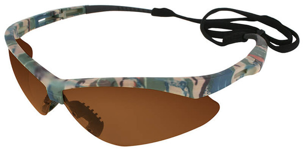 KleenGuard Nemesis Safety Glasses with Camo Frame and Bronze Lens