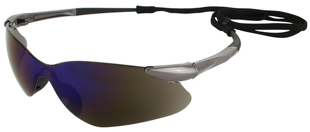 KleenGuard Nemesis VL Safety Glasses with Blue Mirror Lens 20471