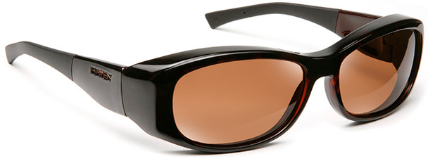 Haven Solana OTG Sunglasses with Tortoise Frame and Amber Polarized Lens