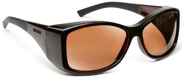 Haven Balboa OTG Sunglasses with Tortoise Frame and Amber Polarized Lens