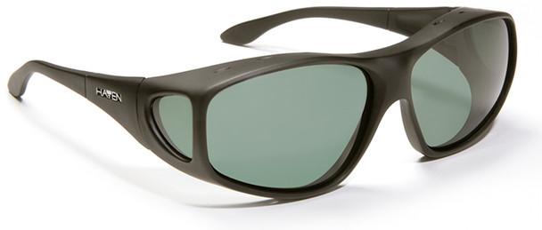 Haven Rainier OTG Sunglasses with Soft Matte Black Frame and Gray Polarized Lens