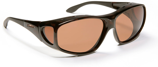 Haven Rainier OTG Sunglasses with Tortoise Frame and Amber Polarized Lens