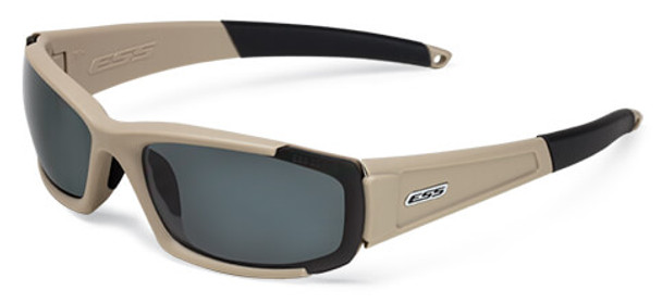ESS CDI Ballistic Sunglasses with Terrain Tan Frame and Clear and Smoke Lenses
