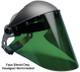 """Elvex Green Lexan Face Shield 10"""" x 18.5"""" x 2 mm"""