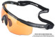Wiley X Saber Advanced Ballistic Safety Glasses with Matte Black Frame and Pale Yellow Lenses